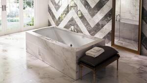 JACUZZI® Fuzion® 70-7/10 x 35-2/5 in. Drop-In Bathtub with End Drain in Black JFUZ7236BUXXXXB