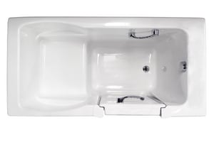 JACUZZI® Finestra® 60 x 30 in. Acrylic Rectangle Alcove Bathtub with Left Drain in White JFIN6030BLXXXXW