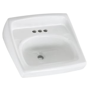 American Standard Lucerne™ Wall Mount Bathroom Sink in White A0355027020