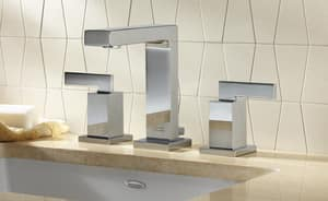 American Standard Times Square® Two Handle Widespread Bathroom Sink Faucet in Polished Chrome A7184851002