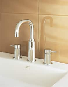 American Standard Serin® Two Handle Widespread Bathroom Sink Faucet in Polished Chrome A2064801002