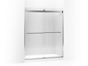 Kohler Levity® 74 in. Frameless Crystal Clear Tempered Glass Sliding Shower Door in Bright Polished Silver K706018-L-SHP
