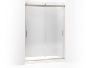KOHLER Levity® 59-5/8 x 82 in. Anodized Aluminum and Tempered Glass Frameless Sliding Shower Door with Handle and Crystal Clear Glass in Anodized Brushed Bronze K706013-L-ABV