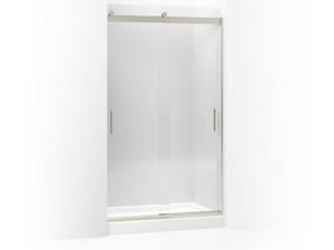 Kohler Levity® 82 in. Sliding Shower Door with Crystal Clear Glass and Blade Handle in Brushed Nickel K706011-L-NX