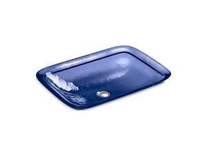 KOHLER Inia® Wading Pool® Vessel in Translucent Sapphire K2773-TG6