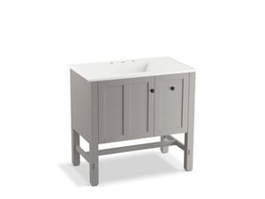 KOHLER Tresham® 34-1/2 x 36 x 21-7/8 in. Single Basin Bathroom Vanity in Mohair Grey K5288-1WT