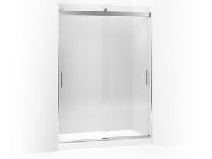 Kohler Levity® 59-5/8 x 5/16 in. Frameless Crystal Clear Tub and Shower Door with Blade Handle in Bright Polished Silver K706165-L-SHP