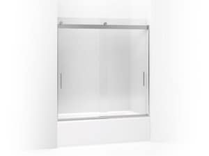 KOHLER Levity® 62 in x 59-5/8 in. Frameless Sliding Bath Door in Bright Polished Silver K706163-L-SHP
