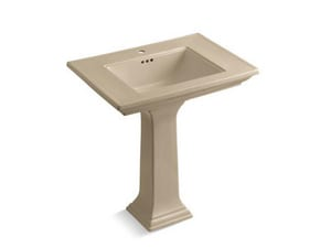 Kohler Memoirs® 5 x 30 in. 1-Hole Pedestal Rectangle Bathroom Sink with Rear Center Drain in Mexican Sand KOH2268-1-33