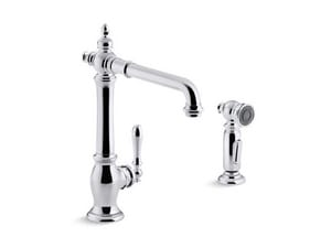Kohler Artifacts® Single Handle Kitchen Faucet in Polished Chrome K99265