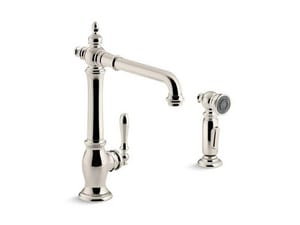 KOHLER Artifacts® Single Handle Kitchen Faucet in Vibrant® Polished Nickel K99265-SN