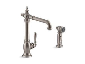 KOHLER Artifacts® Single Handle Kitchen Faucet in Vibrant® Stainless K99265-VS