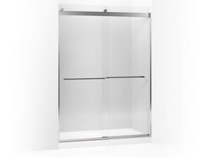 Kohler Levity® 82 x 59-5/8 in. Sliding Shower Door with Crystal Clear Tempered Glass and Square Towel Bar in Bright Polished Silver KOH706019-L-SHP