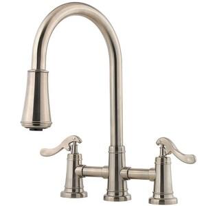 Pfister Ashfield™ Two Handle Bridge Kitchen Faucet in ...