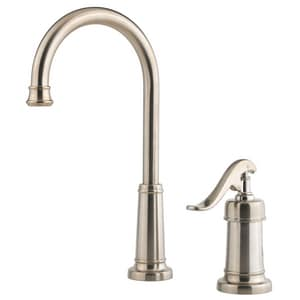 Pfister Ashfield™ Single Handle Lever Handle Bar Faucet in Brushed Nickel PLG72YP2K