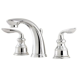 Pfister Avalon™ 1.2 gpm 3-Hole Deck Mount Widespread Lavatory Faucet with Double Lever Handle and High Arc Spout in Polished Chrome PLFM49CBCC