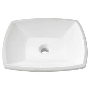 American Standard Edgemere® No-Hole Under-Counter Bathroom Sink in White A0545000020