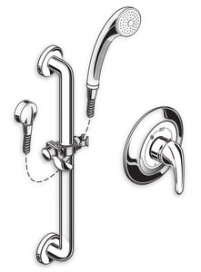 American Standard Flowise® Multi Function Hand Shower in Polished Chrome A1662SG221002