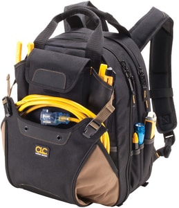 CLC Custom Leather Craft 16 in. 48-Pocket Deluxe Tool Backpack CLC1134