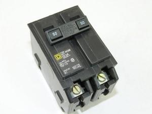 Square D Company 120/240V 50A 2-Pole Miniature Circuit Breaker SHOM2