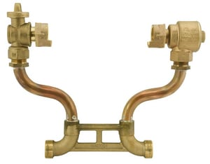 Ford Meter Box 5/8 x 3/4 x 12 in. Meter Thread Brass and Copper Water Service Resetter FVBHH4212WNL