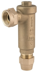 Ford Meter Box 5/8 x 3/4 in. Meter Swivel x Grip Joint Brass Angle Cartridge Dual Check Valve FHHCA34323GNL