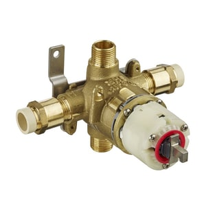 American Standard 1/2 in. 4-Port Pressure Balance Tub and Shower Rough-In Valve with Single Handle AR129
