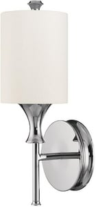Capital Lighting Fixture Studio 1-Light Wall Sconce in Polished Nickel with Frosted Glass Shade C1171PN489