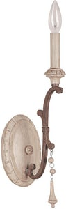 Capital Lighting Chateau 60W 1-Light Candelabra E-12 Incandescent Wall Sconce in French Oak C1606FO