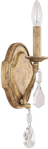 Capital Lighting Blakely 60W 1-Light Candelabra E-12 Incandescent Wall Sconce in Antique Gold C1616AGCR
