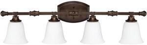 Capital Lighting Fixture Belmont 4-Light Vanity Fixture in Burnished Bronze C1334BB242