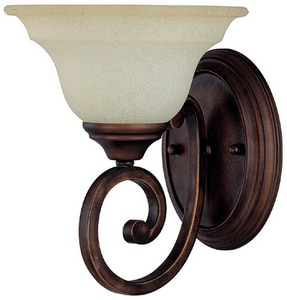 Capital Lighting Chandler 1-Light Wall Sconce in Burnished Bronze with Mist Scavo Glass Shade C1781BB292