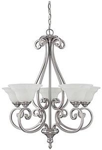 Capital Lighting Fixture Chandler 100 W 5-Light Medium Chandelier in Matte Nickel C3075MN222