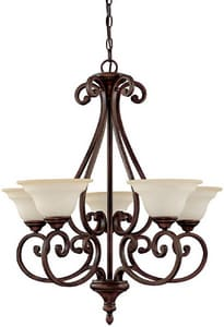 Capital Lighting Fixture Chandler 5 Light 60 W Medium Chandelier in Burnished Bronze C3075BB292