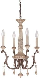 Capital Lighting Chateau 23 in. 60 W 4-Light Candelabra Chandelier in French Oak C4094FO