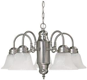 Capital Lighting Fixture Petite 60 W 5-Light Medium Chandelier in Matte Nickel C3255MN118