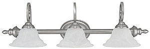 Capital Lighting Fixture Chandler 10-1/4 in. 100W 3-Light Vanity Fixture in Matte Nickel with Faux White Alabaster Glass Shade C1803MN222