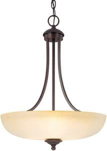 Capital Lighting Fixture Chapman 22 in. 100 W 3-Light Medium Pendant in Burnished Bronze C3948BBTW