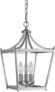 Capital Lighting Fixture Stanton 60 W 3-Bulb Candelabra Ceiling Light in Brushed Nickel C4036BN