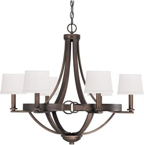 Capital Lighting Fixture Chastain 60W 6-Light Candelabra Incandescent Chandelier in Tobacco C4206TB546