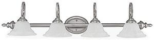 Capital Lighting Fixture Chandler 100W 4-Light Vanity Fixture in Matte Nickel C1804MN222