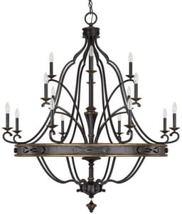 Capital Lighting Fixture Wyatt 60W 16-Light Candelabra E-12 Incandescent Chandelier in Surrey C4256SY000