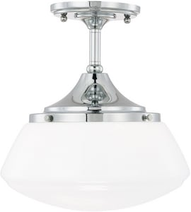 Capital Lighting Fixture Schoolhouse 75W 1-Light Ceiling Fixture in Polished Chrome C3533CH129