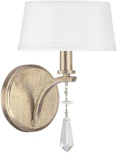 Capital Lighting Fixture Margo 60W 1-Light Candelabra E-12 Incandescent Wall Sconce in Winter Gold C4221WG549CR