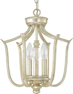 Capital Lighting Fixture Bailey 3-Light Foyer in Winter Gold C4727WG