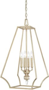 Capital Lighting Fixture Olivia 60W 4-Light Candelabra E-12 Incandescent Foyer Lighting in Winter Gold C515041WG