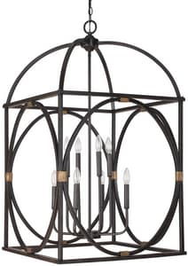 Capital Lighting Fixture 41-1/4 in. 60W 8-Light Foyer Fixture in Surrey C4523SY