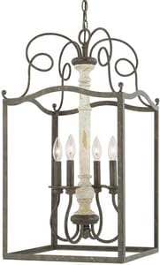 Capital Lighting Fixture Vineyard 4-Light 60W Foyer Light in French Country C510342FC