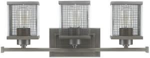 Capital Lighting Fixture Carson 100W 3-Light Medium E-26 Base Incandescent Vanity in Graphite C8033GR