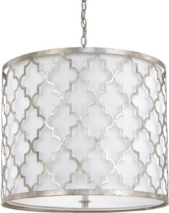 Capital Lighting Fixture Ellis 21 in. 5-Light Medium E-26 Base Incandescent Pendant in Antique Silver C4543AS578